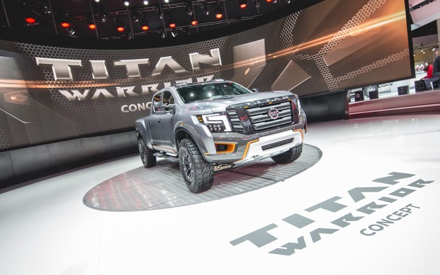 2016 Detroit: The Nissan Titan Warrior Concept is their attempt at taking aim at the Ford F150 Raptor w/ video