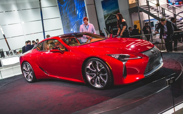 2016 Detroit: Lexus steals the show to reveal the LC500–in full production guise…yes, this is production