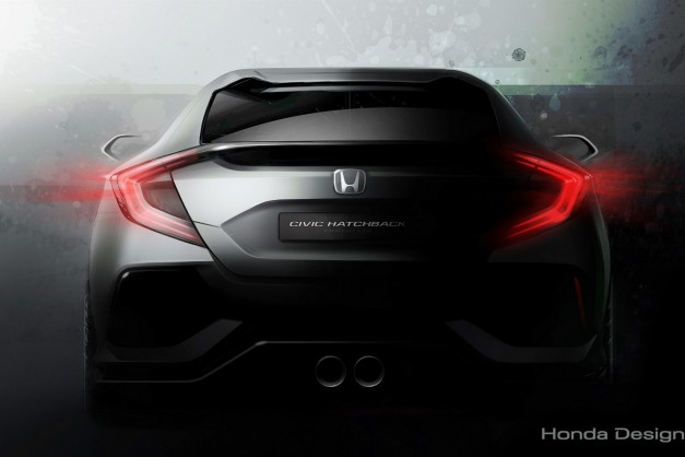 Honda teases the Civic hatchback concept ahead of Geneva and it already looks great