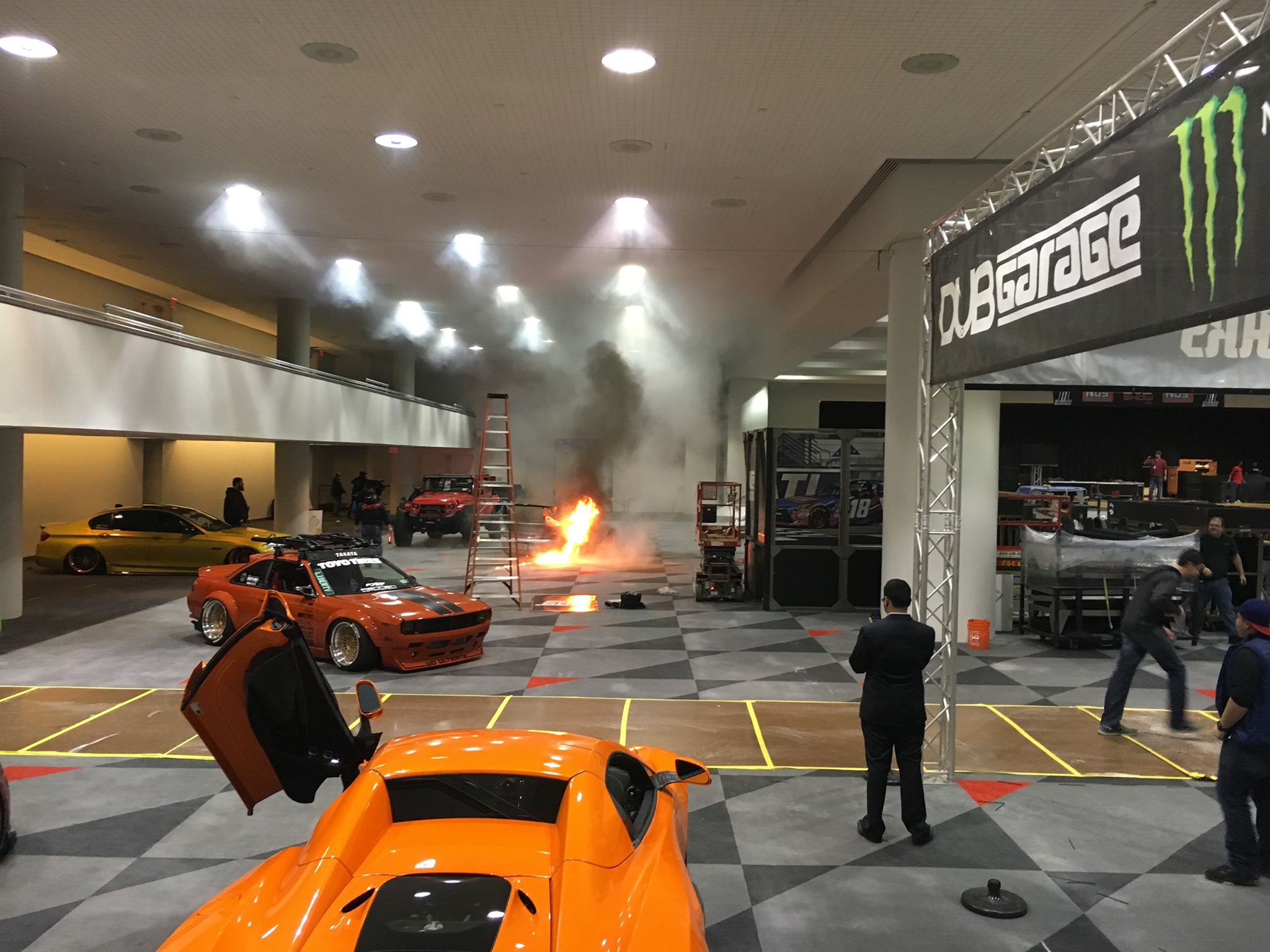 Fire at 2016 NYIAS Javits