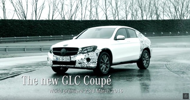 Teased: The Mercedes-Benz GLC Coupe will be revealed in New York as a mini-me GLE Coupe w/ video