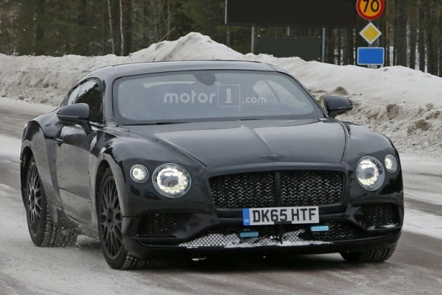 Spy Shots: The 2018 Bentley Continental GT gets caught in the winter with EXP 10 Speed 6 looks