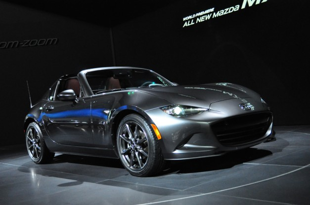 2016 New York: Here's the hot new targa-like Mazda MX-5 RF on the floor of the Javits
