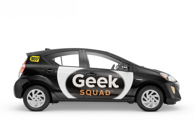 Have tech problems? Geek Squad will begin to show up in a 2016 Toyota Prius c instead of the VW Beetle w/ video