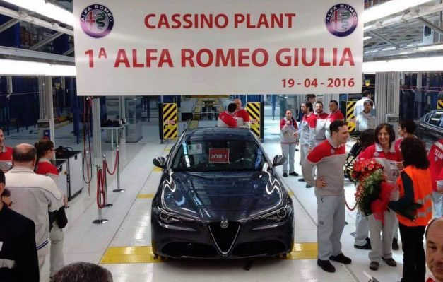 The wait is no more! The first Alfa Romeo Giulia rolls off the production line