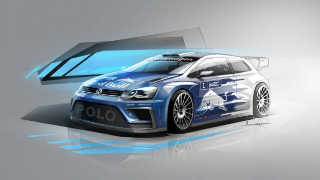 Motorsports: Volkswagen Motorsport's official rendering of the 2017 Polo R WRC will look great when dirty