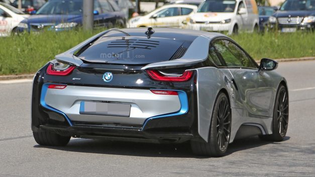 Spy Shots: What is this odd BMW i8 test mule with the weird vents on the back window?
