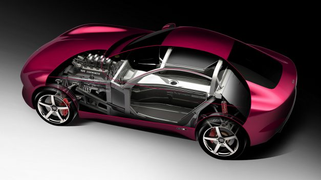 This is what the chassis of the new TVR sports car looks like