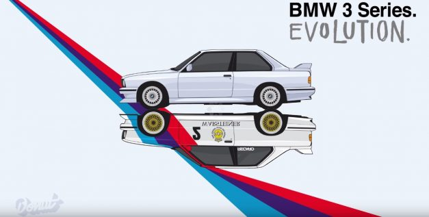 Video: This animated feature of the evolution of the BMW 3-Series is the greatest thing you'll see all day