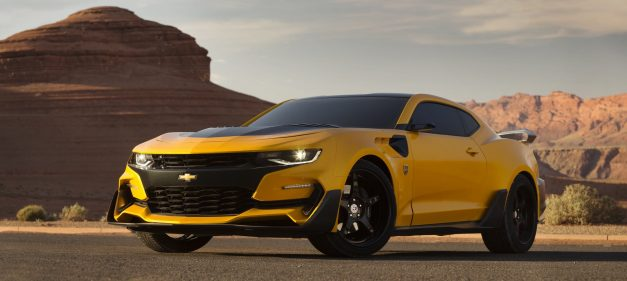 This is what Bumblebee's Chevrolet Camaro body will look like in the next Transformers…it's kinda' hideous
