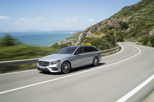 Here's the new 2017 Mercedes-Benz E-Class Wagon, which will be coming stateside