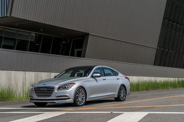 The 2017 Genesis G80 keeps its V8 option as it drops the Hyundai badge