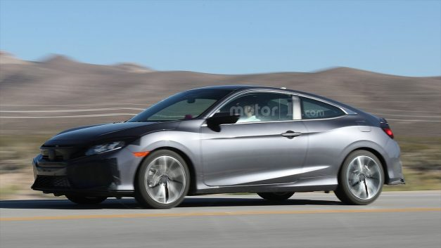 Spy Shots: This sporty-looking Honda Civic Coupe test mule could be the next Civic Si
