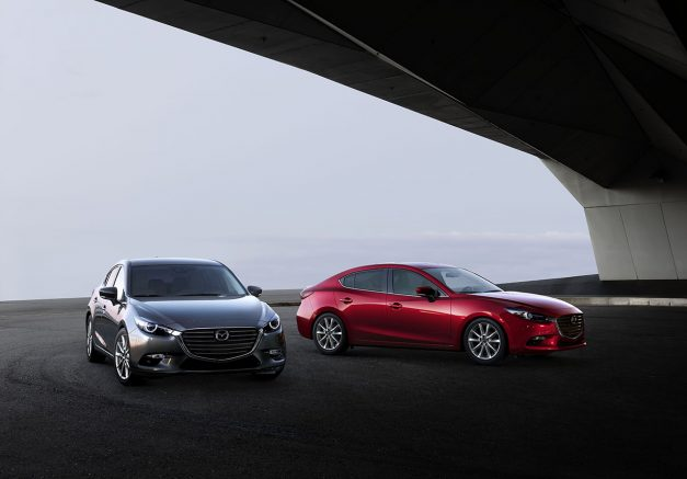 Mazda reveals a slightly-updated 3 in Japan as the Azera, includes mild facelift