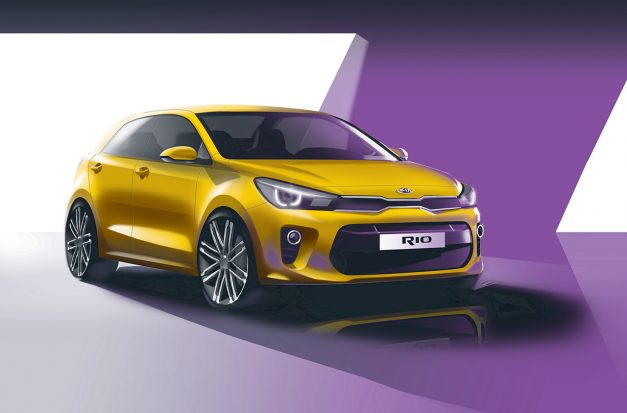 Official: The next Kia Rio shows up in some new sketches before Paris debut