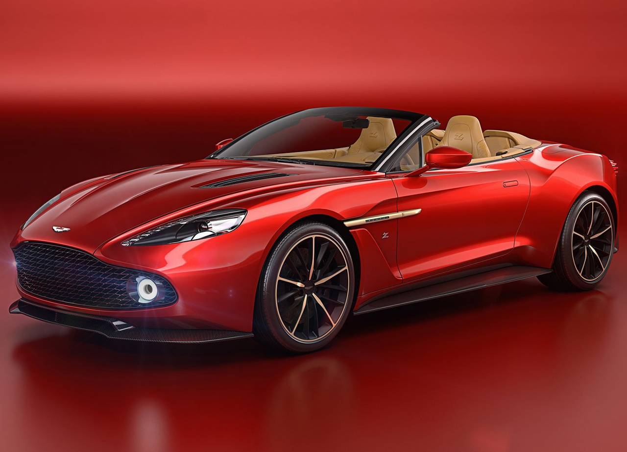 aston martin vanquish zagato volante revealed at pebble beach motorshout. Black Bedroom Furniture Sets. Home Design Ideas