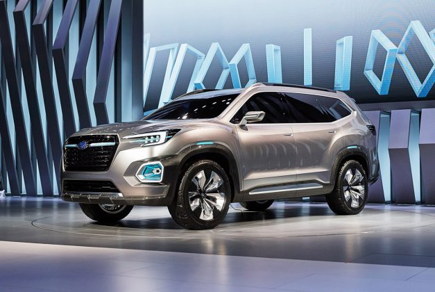2016 LA Preview: The Subaru VIZIV 7 Concept is clearly aimed at Volkswagen's new Atlas