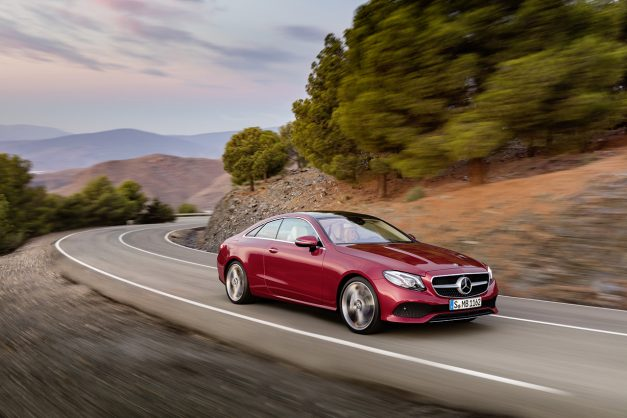 The 2018 Mercedes-Benz E-Class Coupe is a midsize mini-me S-Class Coupe