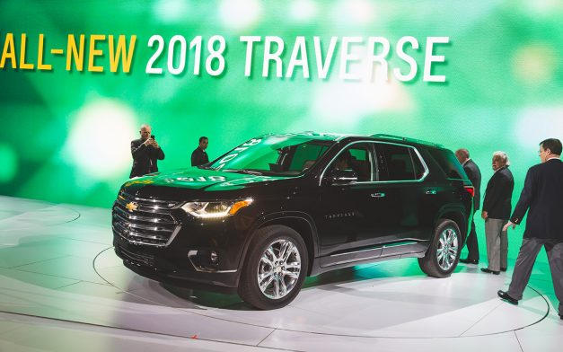 2017 NAIAS – The 2018 Chevrolet Traverse follows in the footsteps of the GMC Acadia