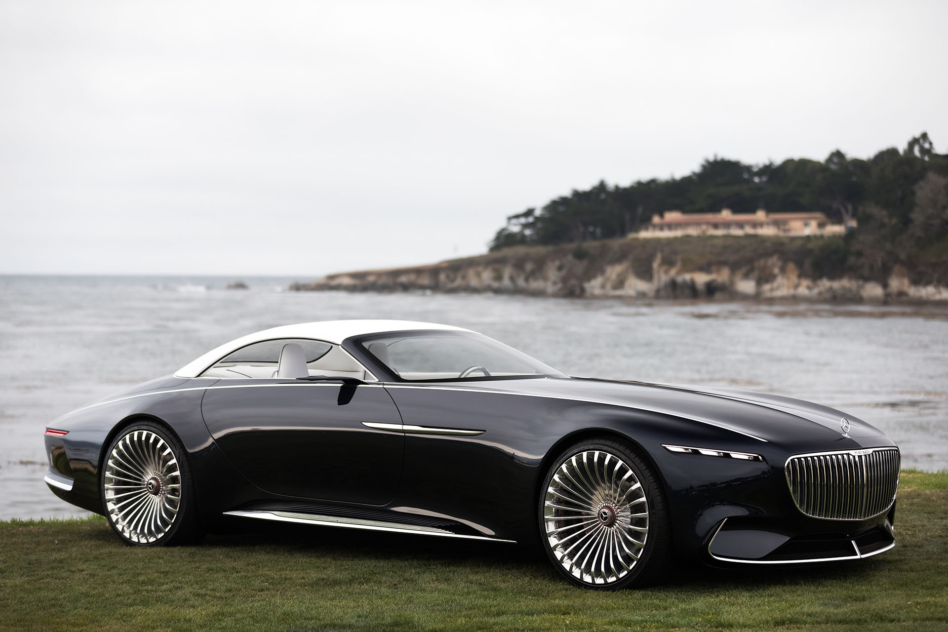 2017 monterey the vision mercedes maybach 6 cabriolet previews the future in opulent open top. Black Bedroom Furniture Sets. Home Design Ideas