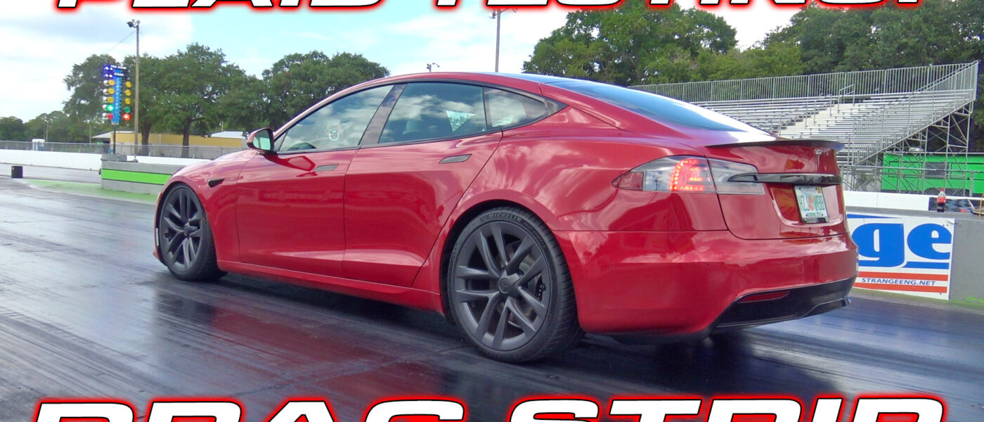 Tesla Model S Plaid driven by Brooks Weisblat from DragTimes down the 1/4 Mile