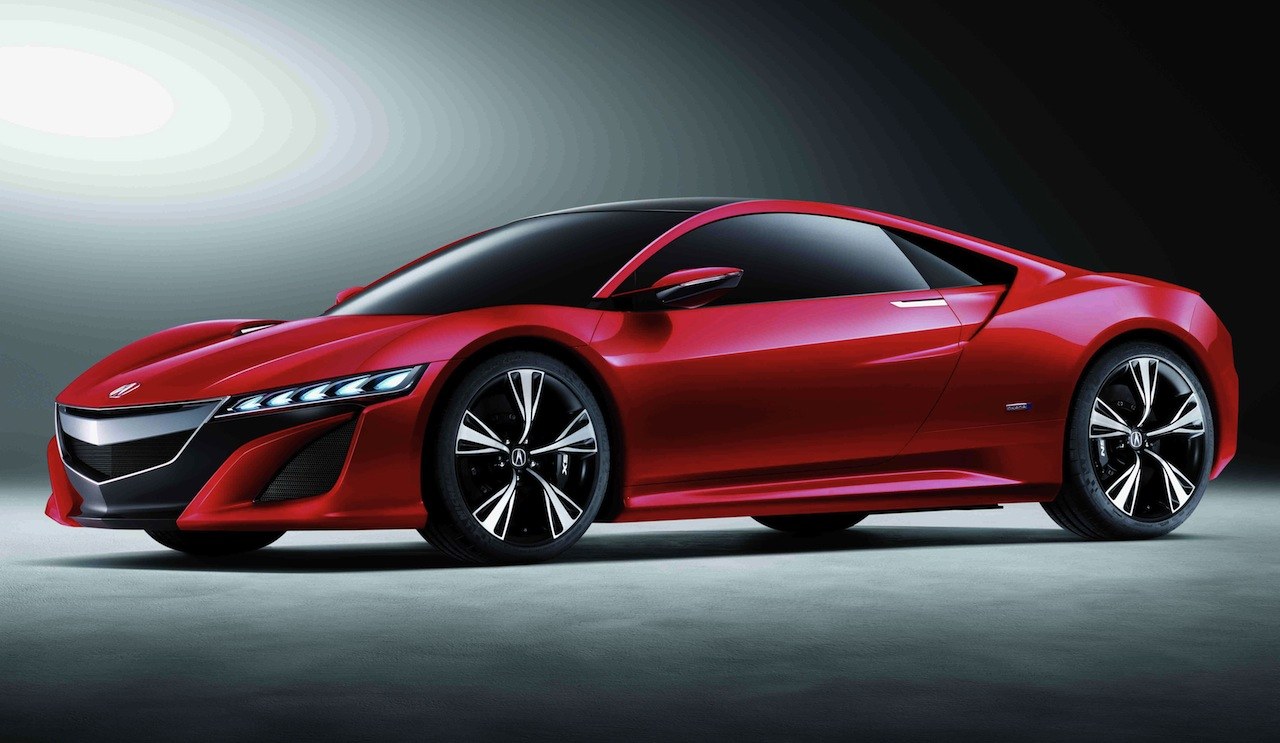 Acura NSX Concept Front 7/8 View Red