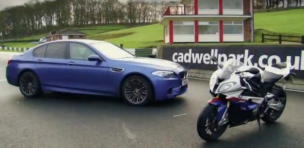 2012 BMW M5 vs BMW S1000RR super bike