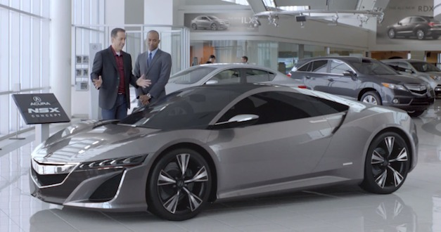 Acura NSX Super Bowl XLVI Commercial