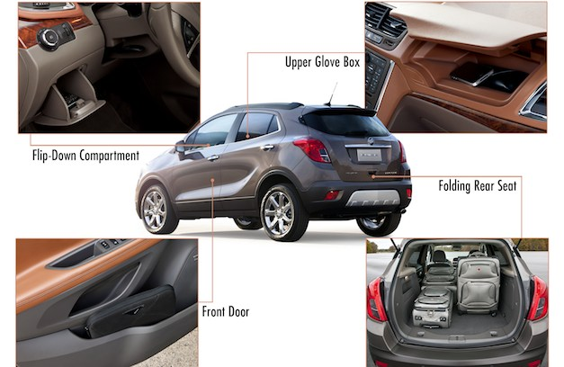 2013 Buick Encore Storage