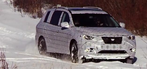 Nissan Pathfinder Snow Testing