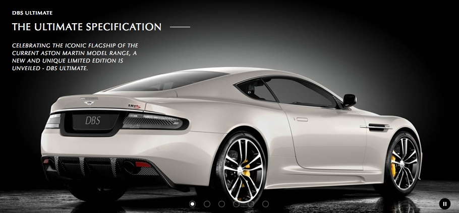 2012 Aston Martin DBS Ultimate Homepage Rear 3/4 Right