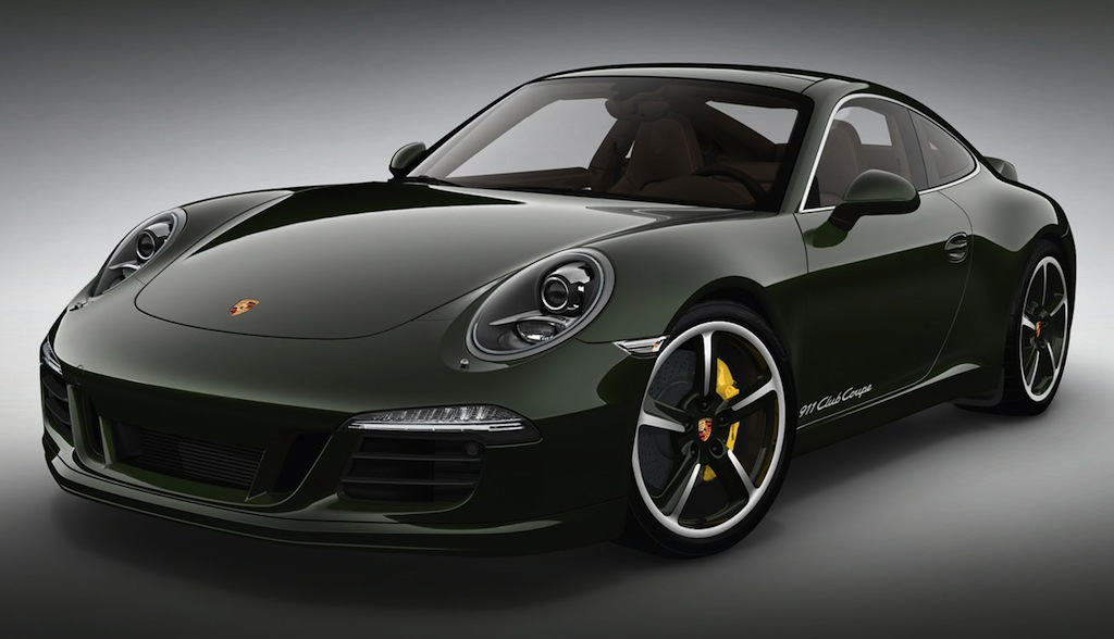 2013 Porsche 911 Club Coupe Front 3/4 View