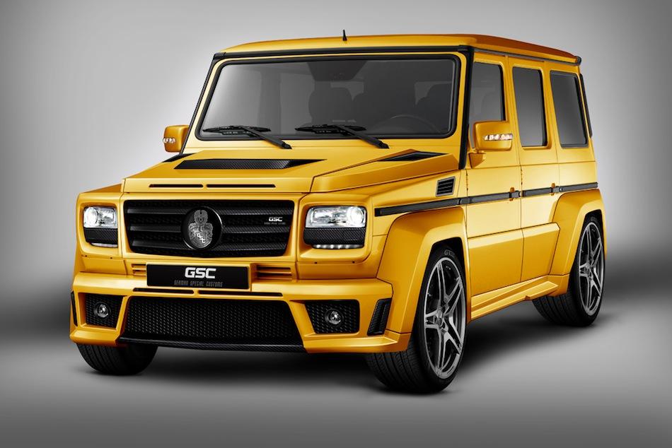 GSC Mercedes-Benz Gelandewagen Goldstorm 3/4 Front Left