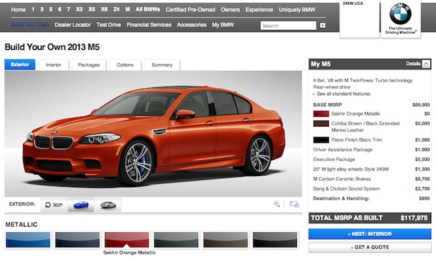 Build your own 2013 BMW M5