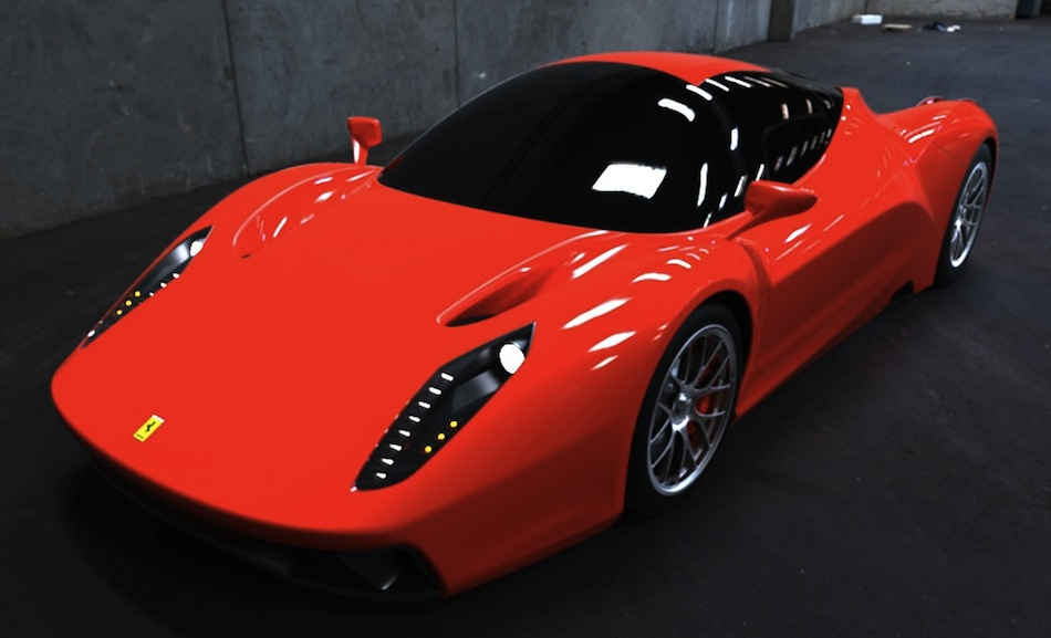 Ferrari Enzo Photo Rendering