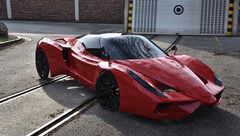 Pedal Powered Ferrari FXX