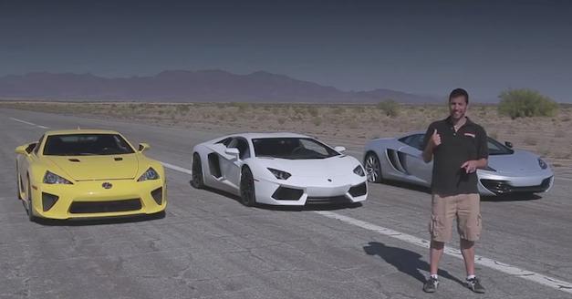Bugatti Veyron, Lamborghini Aventador, Lexus LFA, McLaren MP4-12C