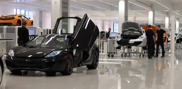 McLaren MP4-12C Production
