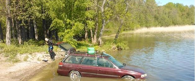 Drowned Finnish Subaru Saved