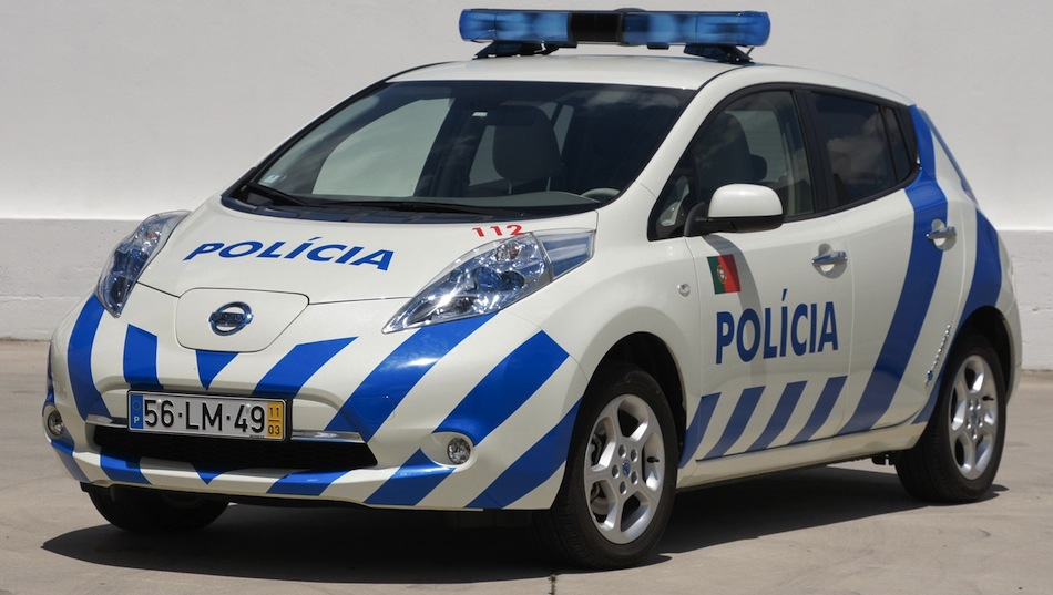 2012 Nissan LEAF Police Front 3/4 View