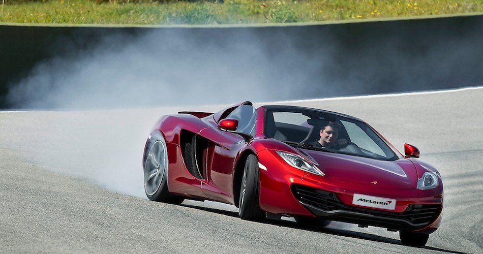 2013 McLaren MP4-12C Spider Front 3/4 Right Power Sliding