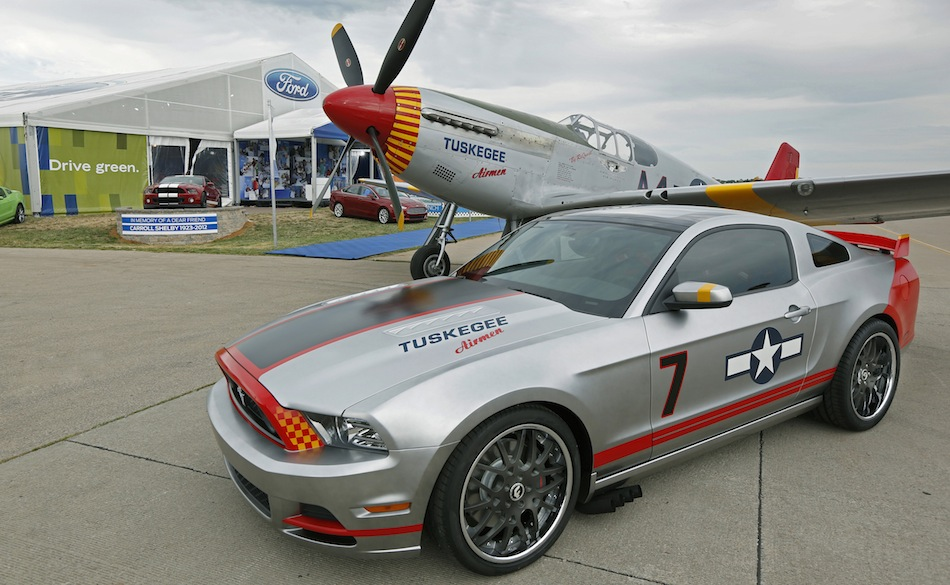 Ford 2013 Red Tails Mustang and Plane