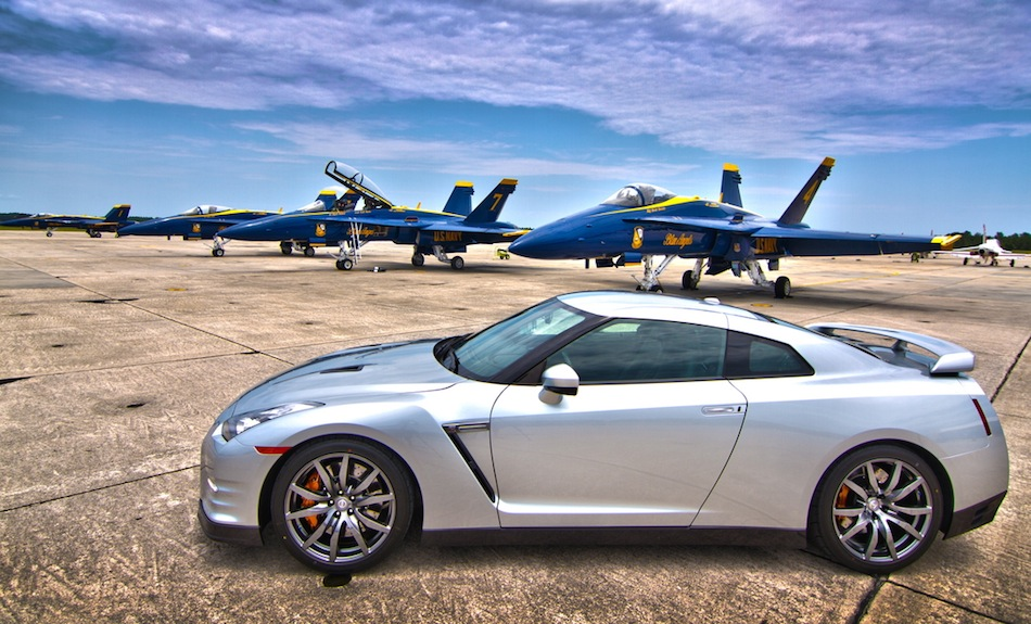 Blue Angels Nissan GT-R Visit for Future Products