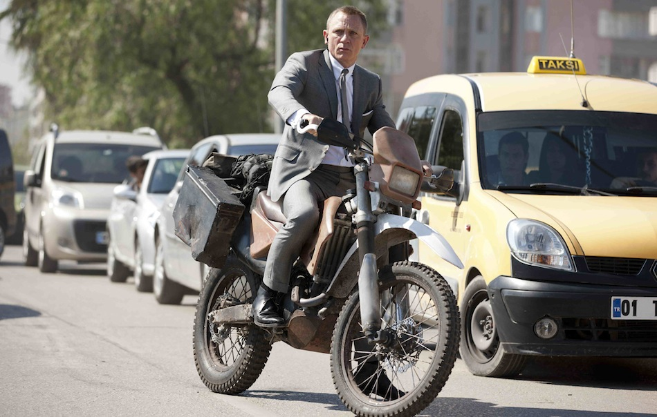 Daniel Craig on Honda Bike