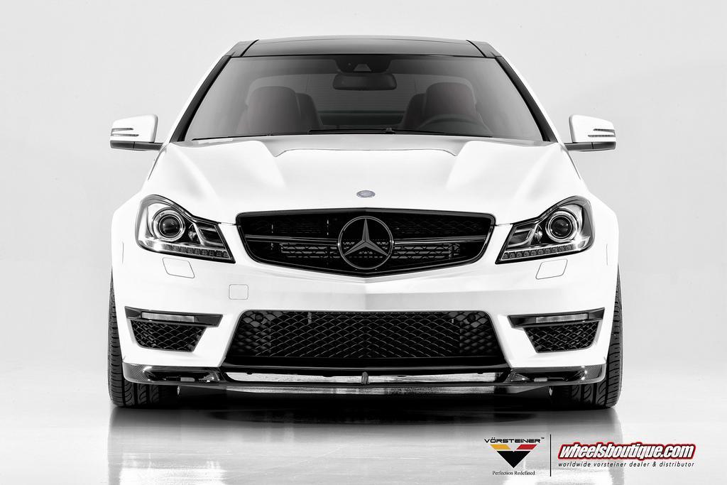 Vorsteiner Mercedes-Benz C63 AMG Coupe Front Angle