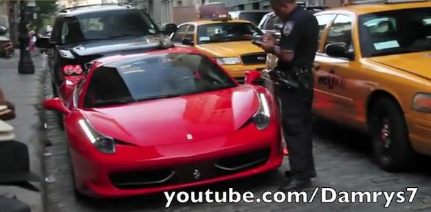 Ferrari 458 Italia Spider Cops Foots