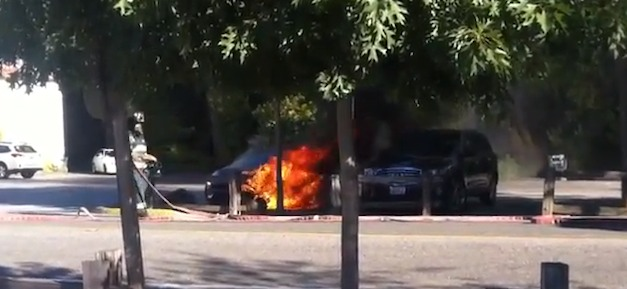 Fisker Karma Burning