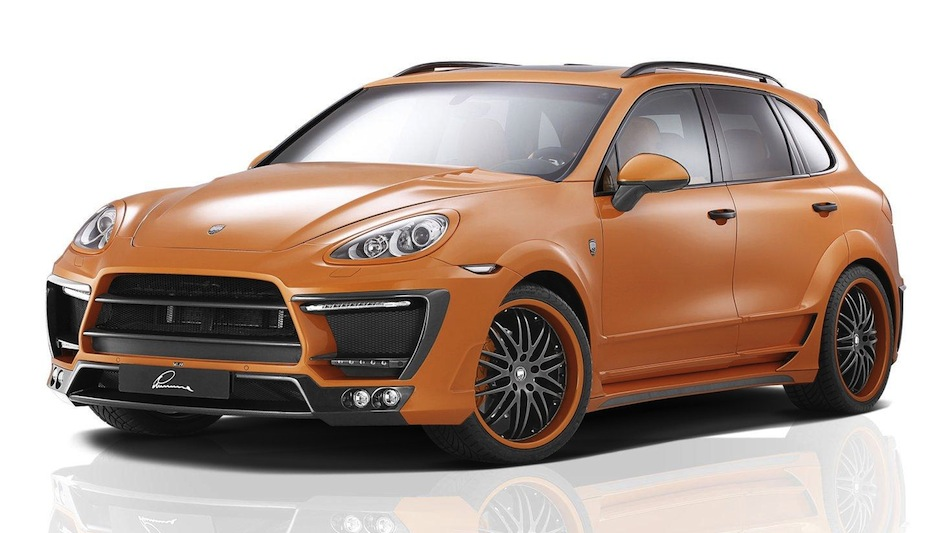 Lumma Design Porsche Cayenne II Orange Front 3/4 View