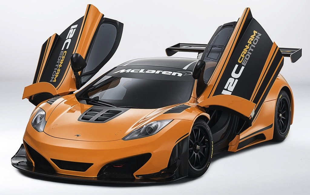 McLaren MP4-12C Can-AM Concept Front 3/4 Top View (Doors Open)