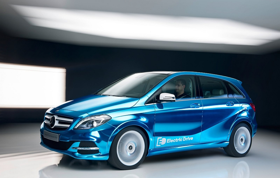 2012 Mercedes-Benz B-Class Electric Drive Concept Left Side In Motion